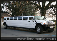 Whire Hummer Limo